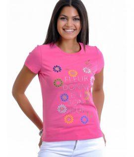 розова дамска тениска joggy